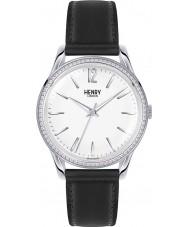 Henry London HL39-SS-0019 Damen Edgware weiß schwarz Uhr mit Swarovski Elementen