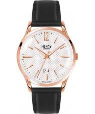 Henry London HL41-JS-0038 Mens rich texturierte weiße schwarze Uhr