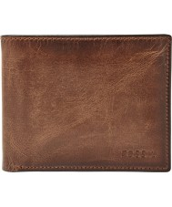 Fossil ML3771200 Mens Bohrturm braunem Leder Brieftasche Passcase