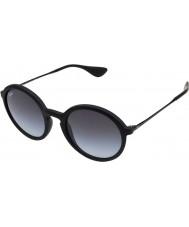 RayBan Rb4222 50 Junge schwarze Sonnenbrille Gummi 622-8g