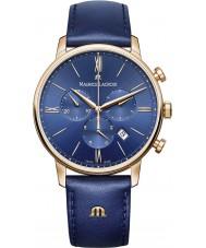 Maurice Lacroix EL1098-PVP01-411-1 Mens eliros blau Lederarmband Chronograph