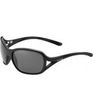 Bolle Sölden glänzend schwarz polarisierten Sonnenbrillen tns