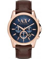 Armani Exchange AX2508 Herren blau dunkelbraun Chronograph Weisekleiduhr