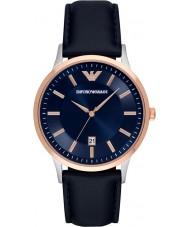 Emporio Armani AR2506 Mens klassischen blauen Lederband Uhr