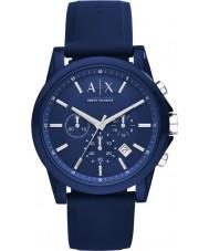 Armani Exchange AX1327 Sport blau Silikon Chronograph