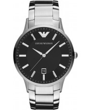 Emporio Armani AR2457 Mens klassische schwarze silberne Uhr