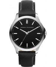 Armani Exchange AX2149 Herren Armband aus schwarzem Leder Kleid zu sehen