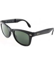 RayBan RB4105 50 Falten Wayfarer mattschwarze Sonnenbrille 601s