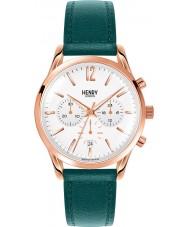 Henry London HL39-CS-0144 Damen stratford weiß Stockente grün Chronograph