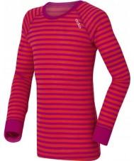 Odlo 10459-70244-104 Kinder-Rundhalsausschnitt violett-rosa für Unterwäsche oben - 3-4 Jahre (104 cm)