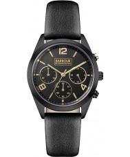 Barbour BB012BKBK Damen Cleadon schwarzes Lederband Uhr