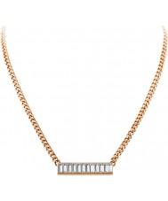 Dyrberg Kern 339134 Damen Trunca Roségold plattiert Halskette mit Swarovski Elementen