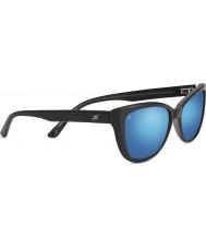 Serengeti Sophia glänzend schwarz polarisierten 555nm blau Spiegel-Sonnenbrille