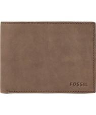 Fossil ML3446200 Herren nova braunem Leder l-zip bifold Brieftasche