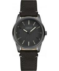 Barbour BB026GNBK Mens jarrow schwarzes Lederband Uhr