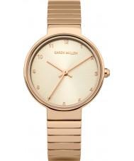 Karen Millen KM131RGM Damen rosé vergoldet Armband-Uhr