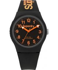 Superdry SYG164B Städtische schwarzen Silikonband Uhr