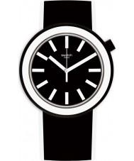Swatch PNB100 Poplooking schwarzen Silikonband Uhr