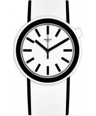 Swatch PNW100 Popmoving weiße Silikonband Uhr
