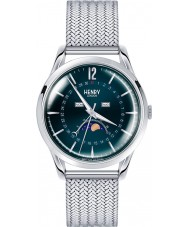 Henry London HL39-LM-0085 Knightsbridge blau silberne Uhr