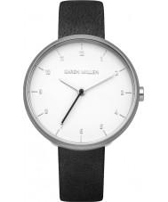 Karen Millen KM135B Damen schwarzes Lederband Uhr