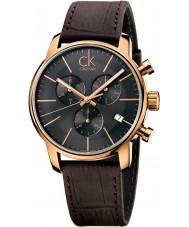 Calvin Klein K2G276G3 Mens Stadt grau braun Chronograph