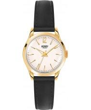 Henry London HL25-S-0002 Damen westminster blass Champagner schwarze Uhr
