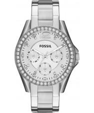 Fossil ES3202 Damen riley Silber Stahl Chronograph