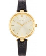 Kate Spade New York 1YRU0811 Damen holland schwarzes Lederband Uhr