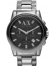 Armani Exchange AX2092 Herren schwarz Silber Chronograph Weisekleiduhr