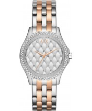Armani Exchange AX5249 Damen Silber und Roségold vergoldet Armband Weisekleiduhr