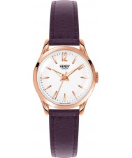 Henry London HL25-S-0072 Damen hampstead weiß lila Uhr