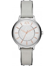 Armani Exchange AX5311 Damen grau Lederband Weisekleiduhr