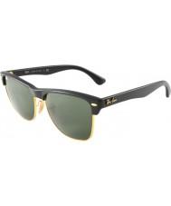 RayBan Rb4175 57 Clubmaster überdimensionalen demi glänzend schwarz-gold 877 Sonnenbrillen