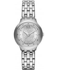 Armani Exchange AX5415 Damen Stein gemeißelt Silberarmband Weisekleiduhr