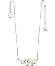Orla Kiely N4015 Damen Kumpel Silber Stamm Muster Halskette