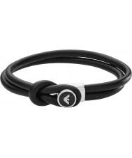 Emporio Armani EGS2212040 Mens Unterschrift schwarze Lederarmbänder