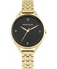 Karen Millen KM130BGM Damen vergoldete Armbanduhr