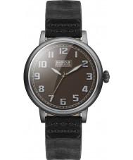 Barbour BB042BKBK Mens hawkins schwarzes Lederband Uhr