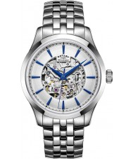 Rotary GB05032-06 Mens Silberton Stahlskelett mechanische Uhr