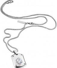 Police 25552PSS-01 Mens Kristall Silber Stahl Halskette mit Swarovski Kristall