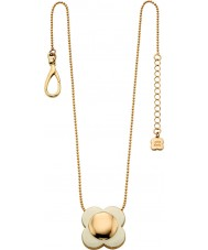 Orla Kiely N4022 Damen Daisy-Chain-18-karätigem Gold Creme Blume Anhänger Halskette