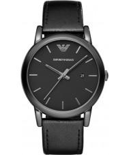 Emporio Armani AR1732 Mens klassische schwarze Lederband Uhr