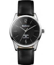 Barbour BB049SLBK Mortimer schwarzes Lederband Uhr
