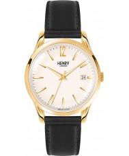 Henry London HL39-S-0010 Westminster blass Champagner schwarze Uhr