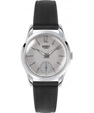 Henry London HL30-US-0073 Damen piccadilly grau kreuzschraffieren schwarze Uhr