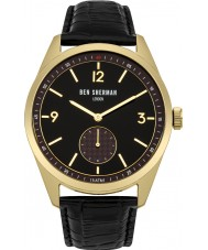 Ben Sherman WB052BG Mens carnaby Fahrer schwarzes Lederband Uhr