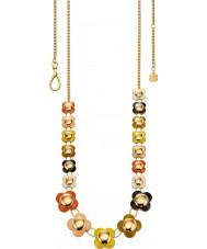 Orla Kiely N4021 Damen Daisy-Chain-18-karätigem Gold mehrfarbig lange Blumenkette