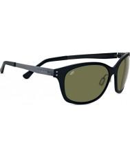 Serengeti Sara Satin schwarz polarisierten phd 555nm Sonnenbrille