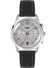 Henry London HL39-CS-0077 Piccadilly grau kreuzschraffieren schwarz Chronograph